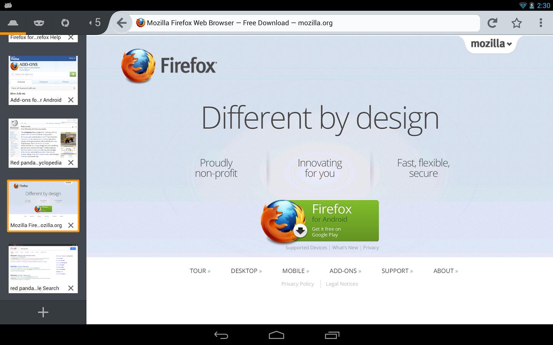 Aplicativo Firefox traz o nabegador para seu Android (Foto: Reprodução)