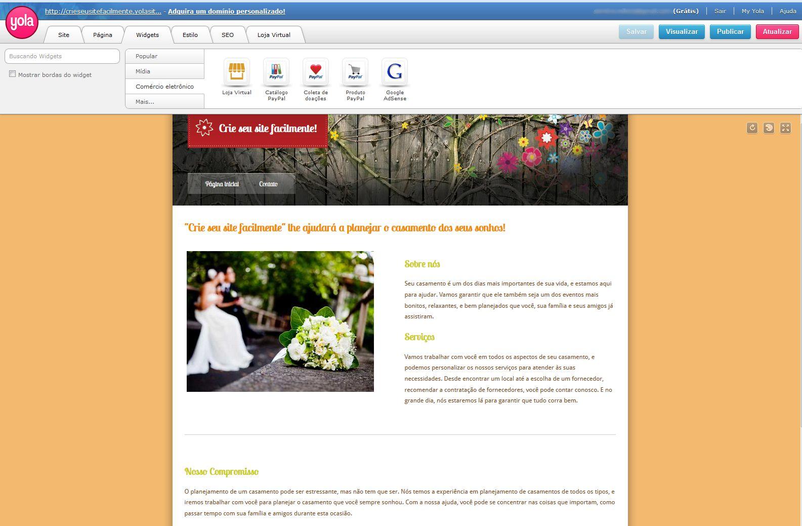 111377fdf Como criar sites grátis online com Wix