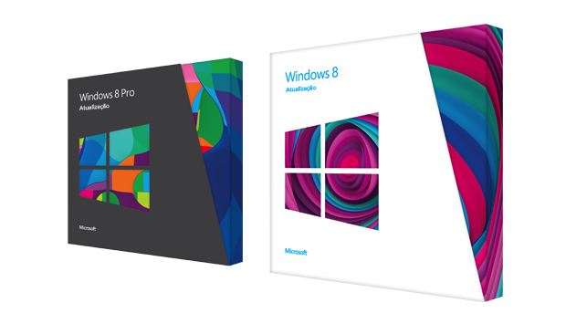 Caixas do Windows 8 e Windows 8 Pro (Foto: Reprodução/Microsoft)