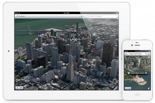 Apple Maps foi a grande promessa do iOS 6, mas passou vexame frente ao Google Maps (Foto: Divulgação)