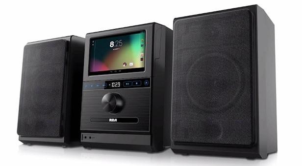 RCA lança aparelho de som com tablet Android acoplado (Foto: Divulgação)