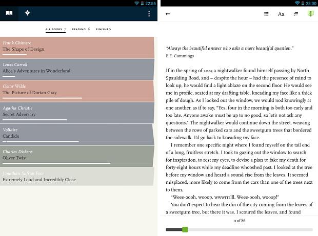Readmill é um aplicativo de leitura de livros para Android (Foto: Divulgação)