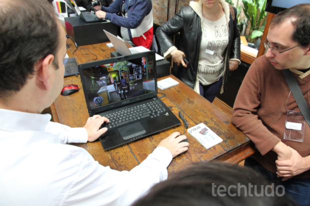 ROG G Series G750JX, voltado para gamers, tem tela Full HD e placa GTX 770M (Foto: Rodrigo Bastos/TechTudo)