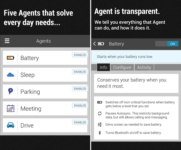 Agent é um aplicativo que controla diversas configurações do Android (Foto: Reprodução) (Foto: Agent é um aplicativo que controla diversas configurações do Android (Foto: Reprodução))