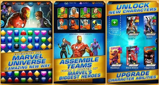 Marvel Puzzle Quest tem diversos heróis para você colecionar (Foto: Divulgação)
