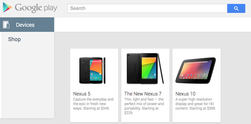 Nexus 5 Google Play (Foto: Reprodução/ Google Paly)