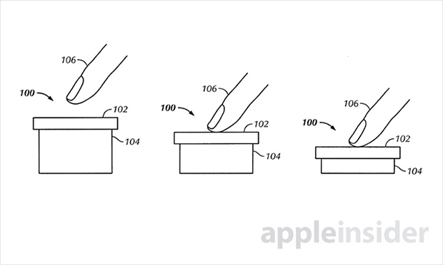 Patente da Apple descreve tela touch sensível também a dois níveis de pressão (Foto: Reprodução/Apple Insider)