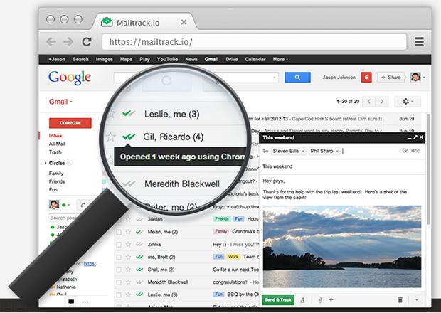 Plugin MailTrack confirma entrega e leitura de mensagens do Gmail (Foto: Reprodução)