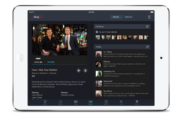 Novo aplicativo do Sling permite encontrar programas mais facilmente (foto: Reprodução/Engadget)