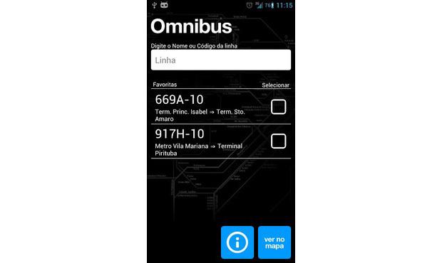 Omnibus usa o sistema da SPTrans para informar sobre as condições de transporte em São Paulo (Foto: Reprodução)
