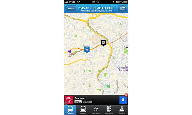 Urbanoide permite bscar linhas de ônibus no iPhone e no Android (Foto: Reprodução)