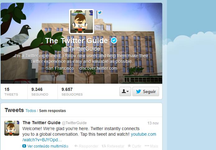@TwitterGuide ajuda a usar e entender o Twitter (Foto: Reprodução/Edivaldo Brito)