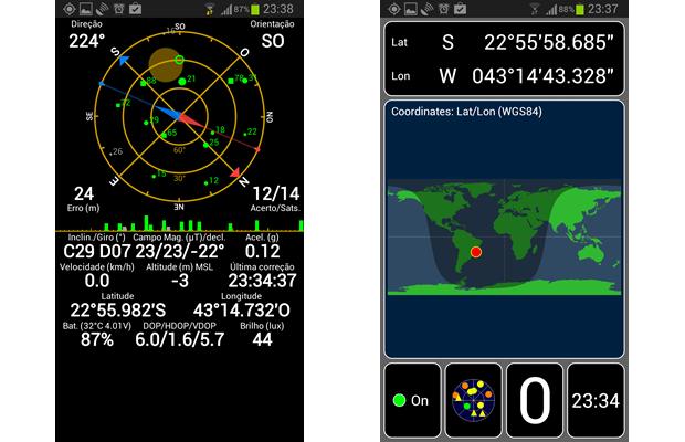 Alguns apps medem a precisão da recepção dos aparelhos, detectando e corrigindo falhas no sinal de GPS e melhorando a leitura das coordenadas (Foto: Reprodução/Daniel Ribeiro)