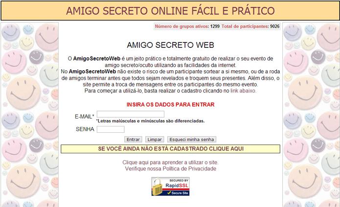 site sorteio amigo oculto online dating