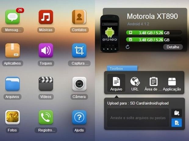 6d1efbe53 Ícones e Toolbox permitem gerenciar o smartphone (Foto: Reprodução / Dario  Coutinho)