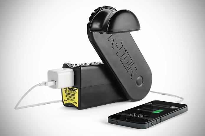 Barulhento, mas eficiente e simples, o Pocket Socket é um dos gadgets para recarregar bateria mais bem consolidado no mercado (Foto: Divulgação/K-TOR)
