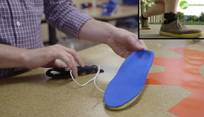 Utilize o SolePower para aproveitar a energia que é gasta caminhando ou correndo (Foto: Divulgação/SolePower)