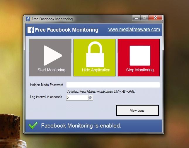 Use o botão Start Monitoring para iniciar o monitoramento das atividades no Facebook (Foto: Reprodução/Marcela Vaz)