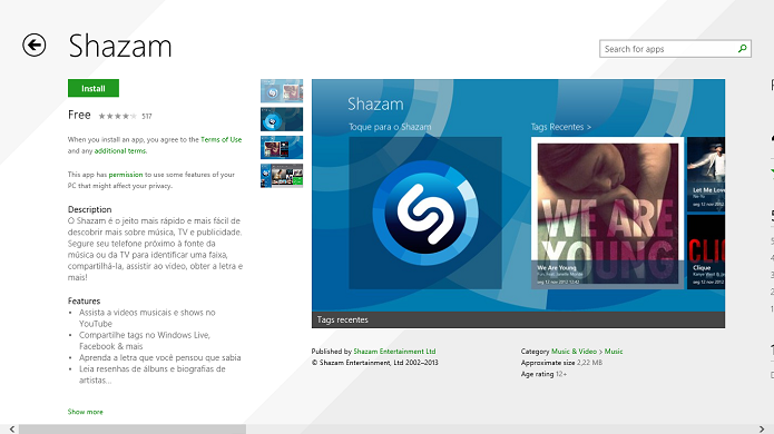 shazam pc download gratis