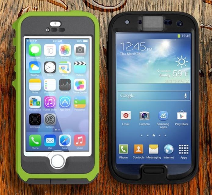 27f0a594e0f Capas da série Preserver para Galaxy S4 e iPhone 5 (Foto:  Divulgação/Otterbox