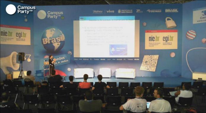 Depois de quedas na rede elétrica, as palestras sofreram de um certo esvaziamento (Foto: Reprodução/Campus Party)