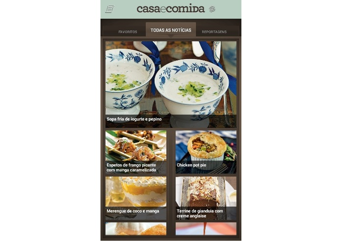 O app Casa e Comida traz receitas deliciosas para você fazer em casa (Foto: Reprodução/Lívia Dâmaso)