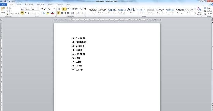 416271bf7348f Como colocar uma lista de texto em ordem alfabética no Microsoft ...