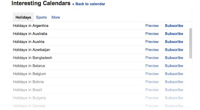 Google Agenda ganhou suporte a feriados do Brasil (Foto: Divulgação/Google)