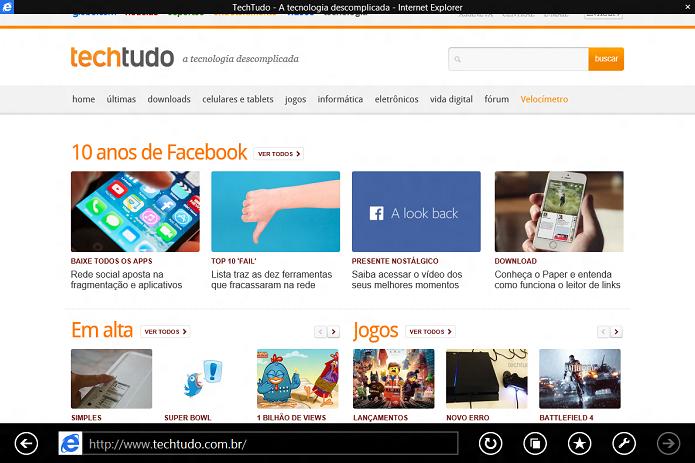 Apps Metro agora possuem uma barra de titulo (Foto: Reprodução/Edivaldo Brito)