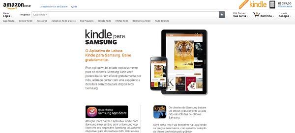 Aplicativo foi redimensionado para aparelhos da Samsung (Foto: Reproduçao/Kindle