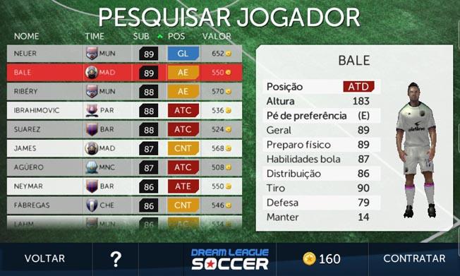 Dream League Soccer  confira os melhores craques para contratar no ... f11c8f88a2e31