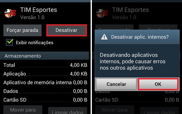 Confirme a desativação do aplicativo no Android (Foto: Reprodução/Thiago Bittencourt)