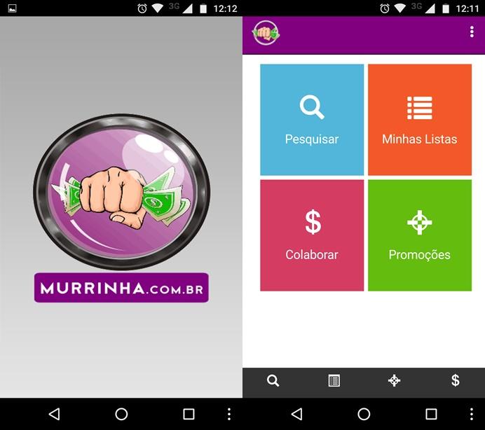 d64ef8e49 Tela inicial do aplicativo Murrinha (Foto  Reprodução Helito Bijora)
