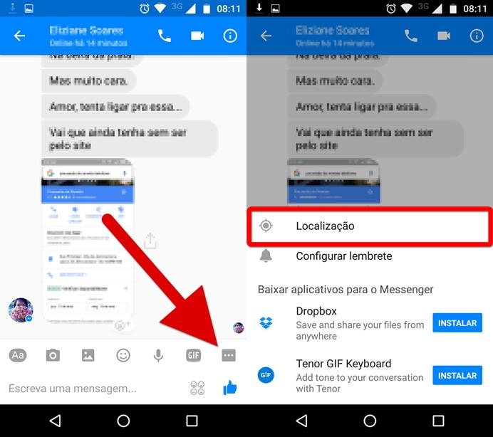 como mudar a localização no facebook pelo celular